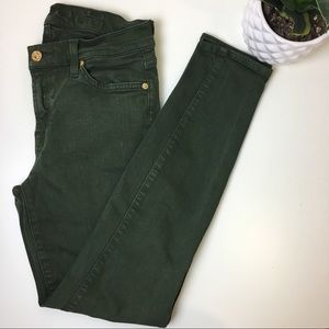 7 For all mankind green ankle skinny